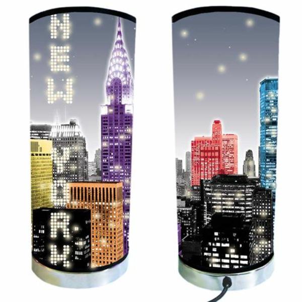 Lampe De Chevet New York Lampe De Table De Nuit Batailleaseattle