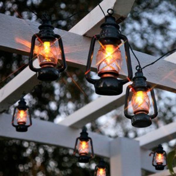 Comment d corer le guirlande lumineuse ext rieur for Lampe exterieur electrique