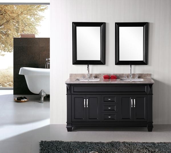 lavabo-à-double-vasque-deux-miroirs-rectangles