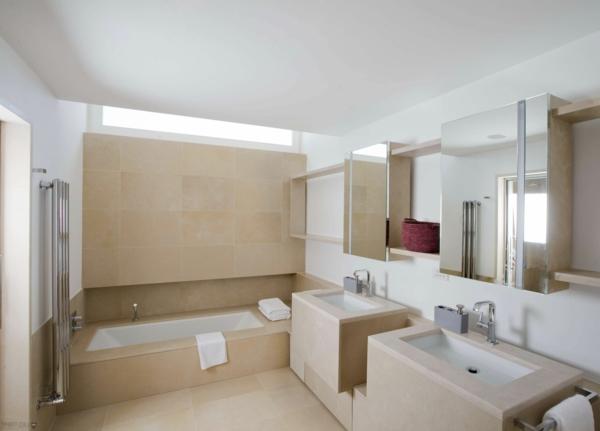lavabo-à-double-vasque-salle-de-bains-en-blanc-et-marron
