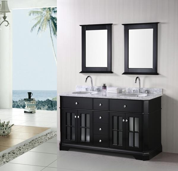 lavabo-à-double-vasque-papier-peint-trompe-l'oeil