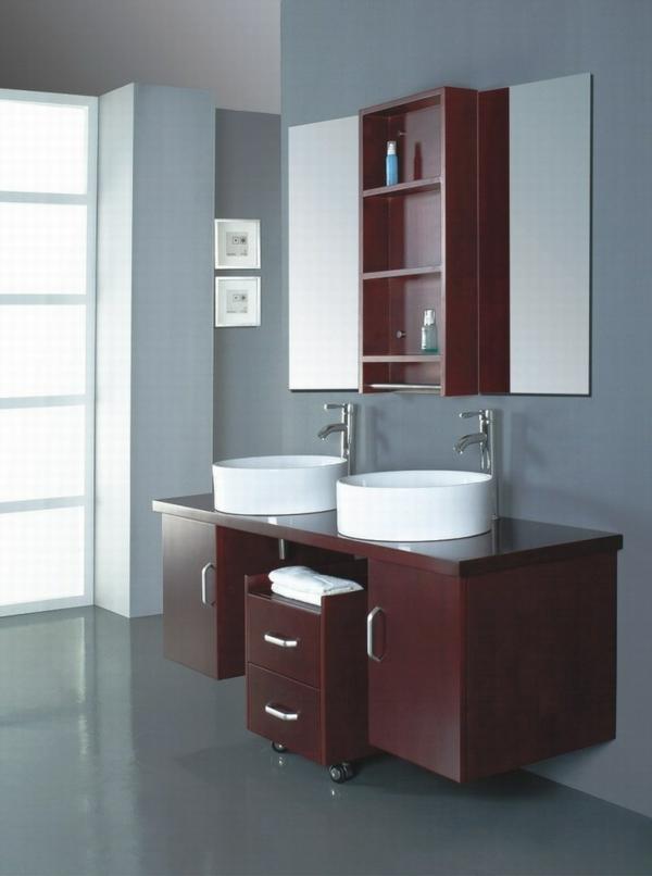lavabo-à-double-vasque-deux-éviers-rondes