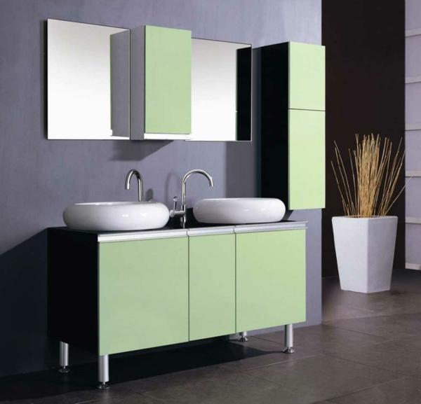 lavabo-à-double-vasque-commode-avec-apiètement