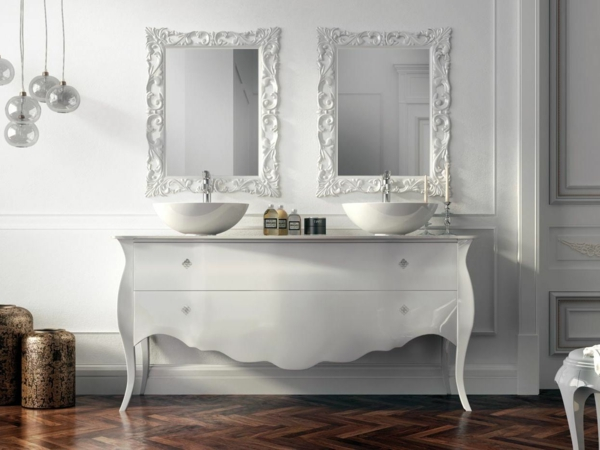 Le lavabo double vasque pour votre salle de bains - Meuble de salle de bain style baroque ...