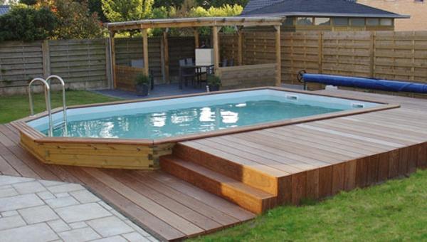 Le piscine hors sol en bois 50 mod les for Liner pour piscine bois