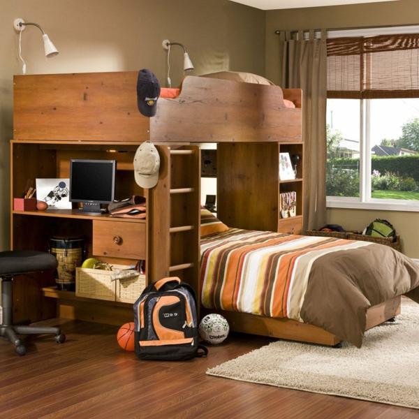 Le lit mezzanine avec bureau est l\'ameublement créatif pour les ...