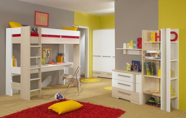 Captivant Le Lit Mezzanine Avec Bureau Est Lu0027ameublement Créatif Pour Les Chambres  Du0027enfant ...