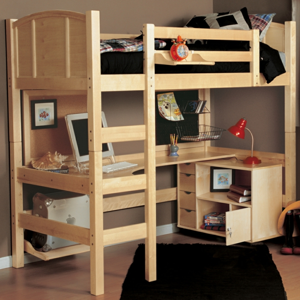 lit-mezzanine-avec-bureau-en-bois-clair