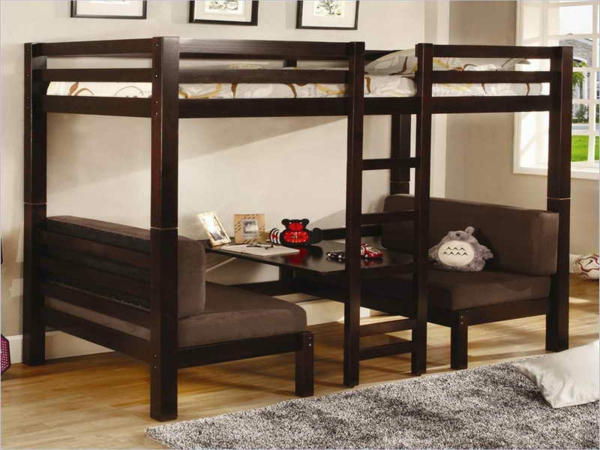 interesting with lit mezzanine avec bureau but. Black Bedroom Furniture Sets. Home Design Ideas