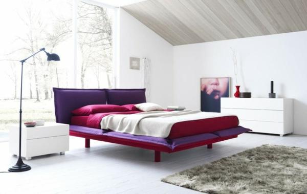 lit-roche-bobois-chambre-à-coucher-coquette