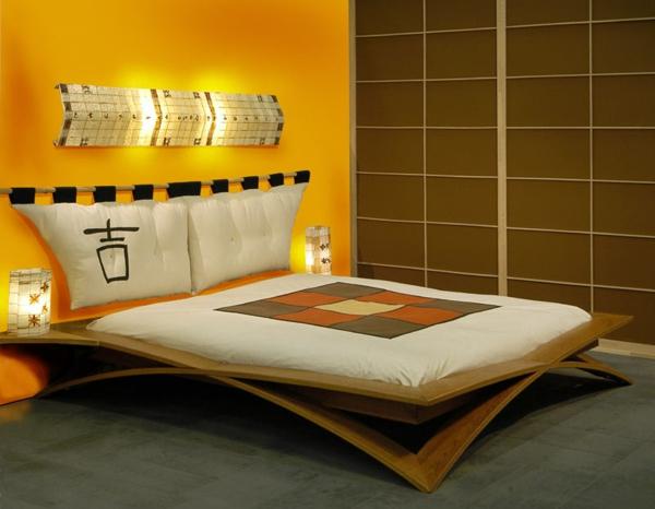 lit-roche-bobois-chambre-à-coucher-rétro-japonaise