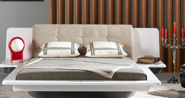 lit-roche-bobois-design-beige-et-blanc