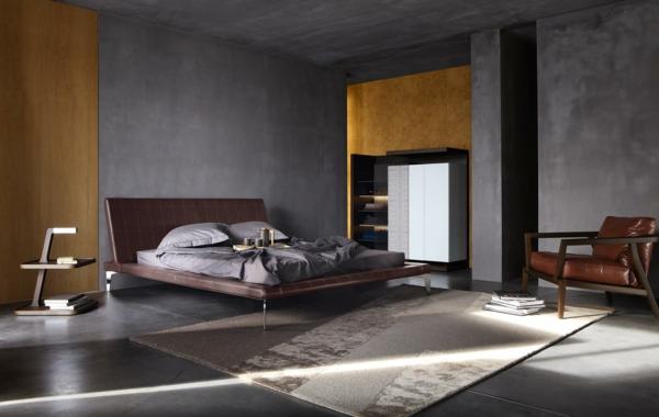 lit-roche-bobois-intérieur-dans-une-chambre-à-coucher-grise