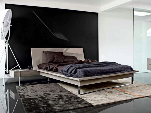lit-roche-bobois-près-d'un-intérieur-noir