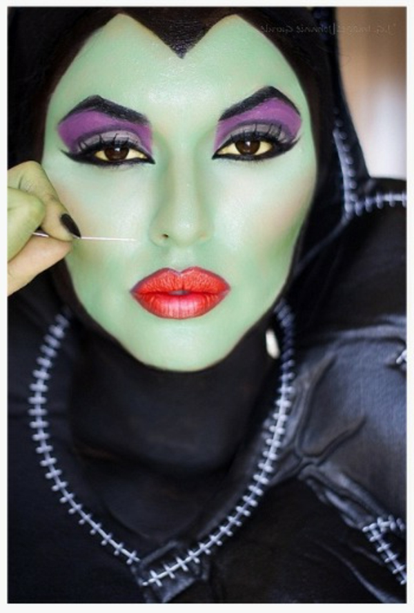 Comment faire un maquillage de sorci re de halloween - Maquillage zombie femme facile ...