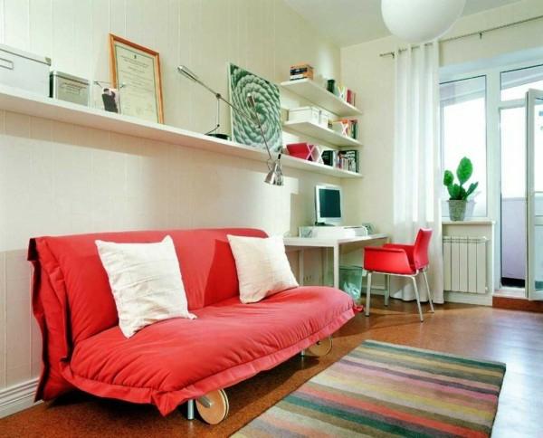 matelas-futon-rouge