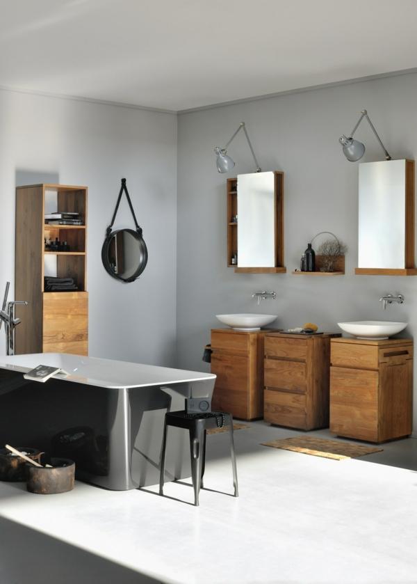 le meuble de salle de bains en teck. Black Bedroom Furniture Sets. Home Design Ideas