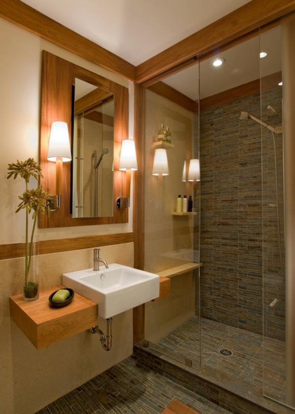 meuble-de-salle-de-bains-en-teck-miroir-et-éclairage