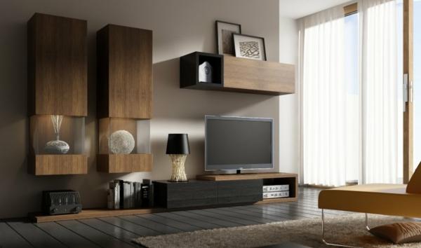 Mod les de meuble tv en bois - Meuble tv bas long ...