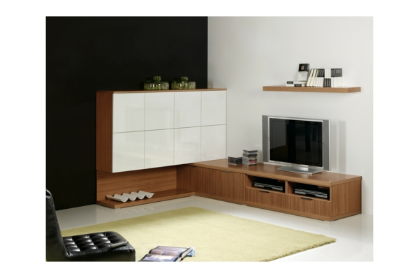meuble tv d 39 angle design. Black Bedroom Furniture Sets. Home Design Ideas