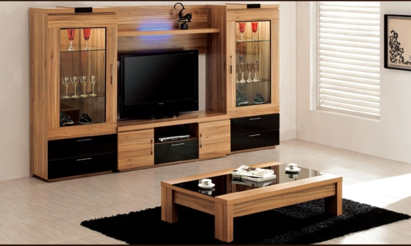 mod les de meuble tv en bois. Black Bedroom Furniture Sets. Home Design Ideas