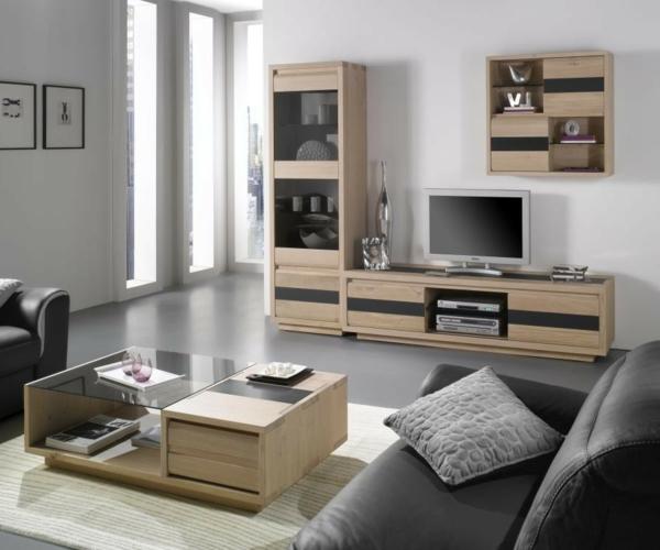 Modèles de meuble tv en bois # Meuble Tv Et Table Basse Moderne