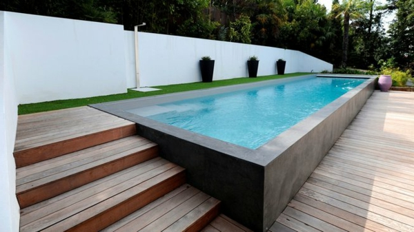 piscine hors sol avec terrasse bois piscine en bois semienterre en terrasse with piscine hors. Black Bedroom Furniture Sets. Home Design Ideas