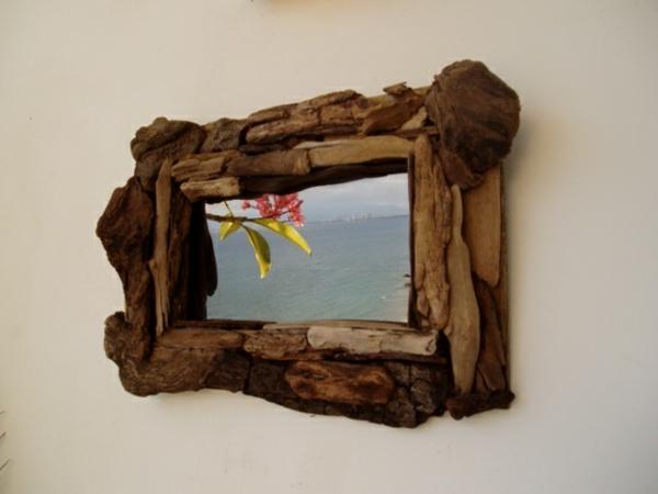 miroir-à-bois-flotté-bois-foncé