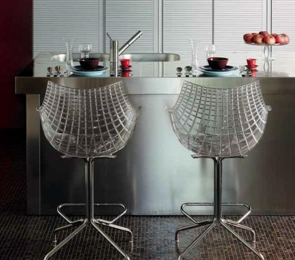 moderne-design-tabouret de bar transparent
