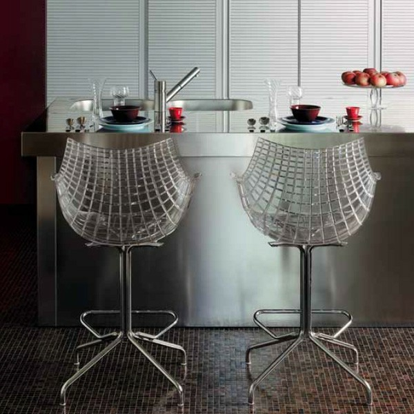 Un tabouret de bar transparent chic et modernit for Siege de bar design