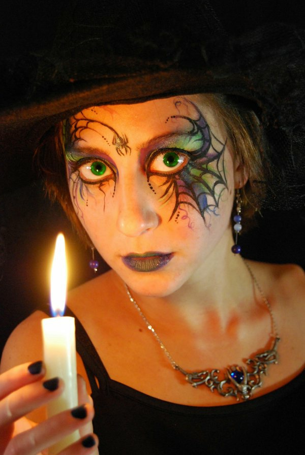 Comment faire un maquillage de sorci re de halloween - Maquillage halloween citrouille ...