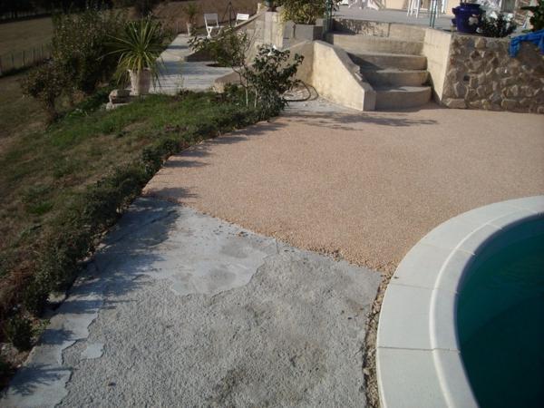 Faire rev tement de la terrasse - Resine pour terrasse beton ...