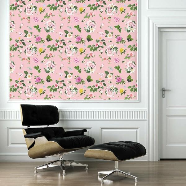 papier-peint-adhésif-rose-floral