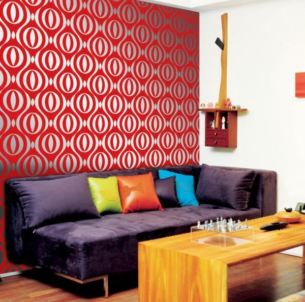 papier-peint-adhésif-rouge