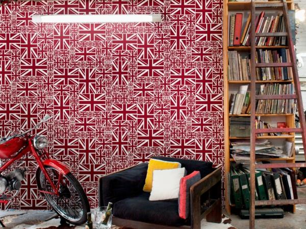 le papier peint adh sif. Black Bedroom Furniture Sets. Home Design Ideas
