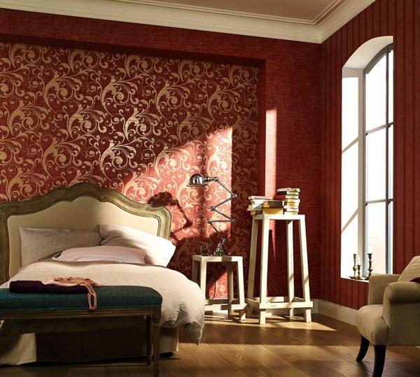 papier-peint-baroque-classique-couleurs-rouge-et-doré