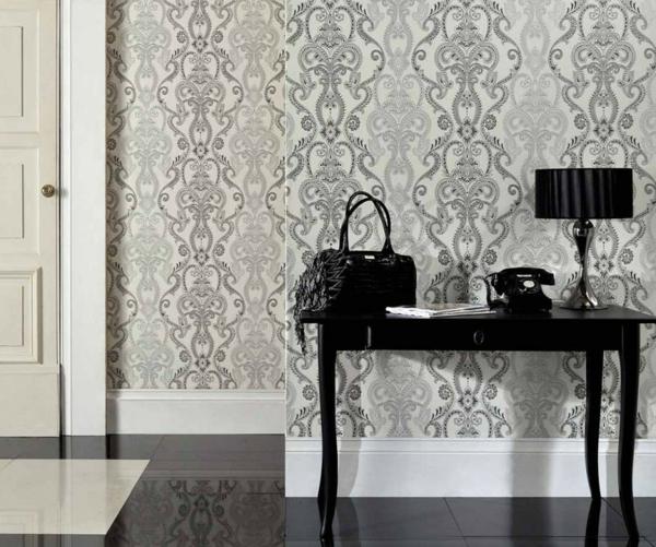 papier-peint-baroque-détails-en-blanc-et-noir