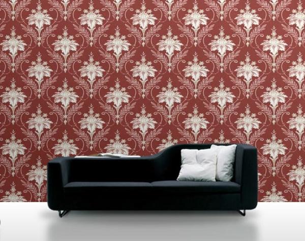 papier-peint-baroque-en-rouge