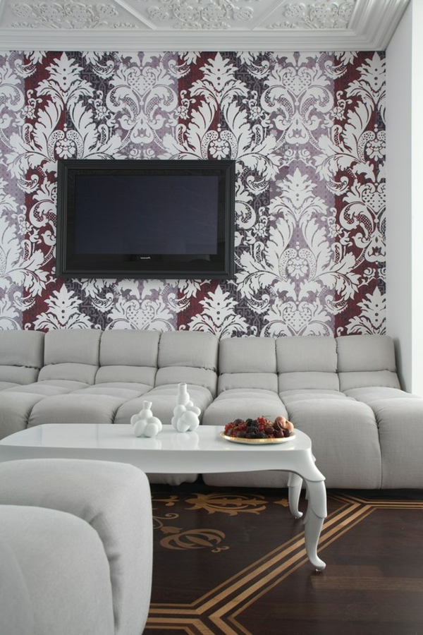 Le papier peint baroque et le style moderne classique for Interieur baroque moderne