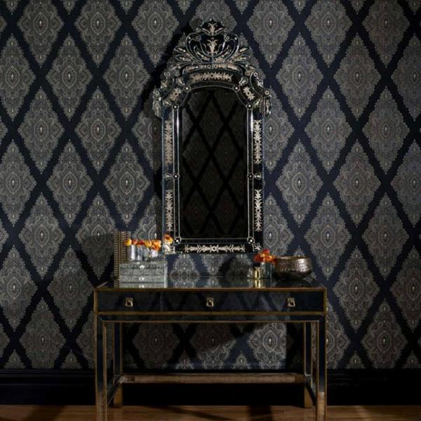 papier-peint-baroque-motifs-de-diamants