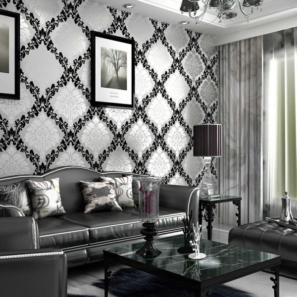 papier-peint-baroque-salle-de-séjour-stylée
