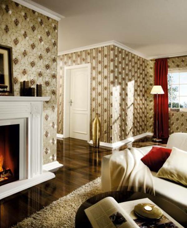 papier-peint-baroque-salle-de-séjour