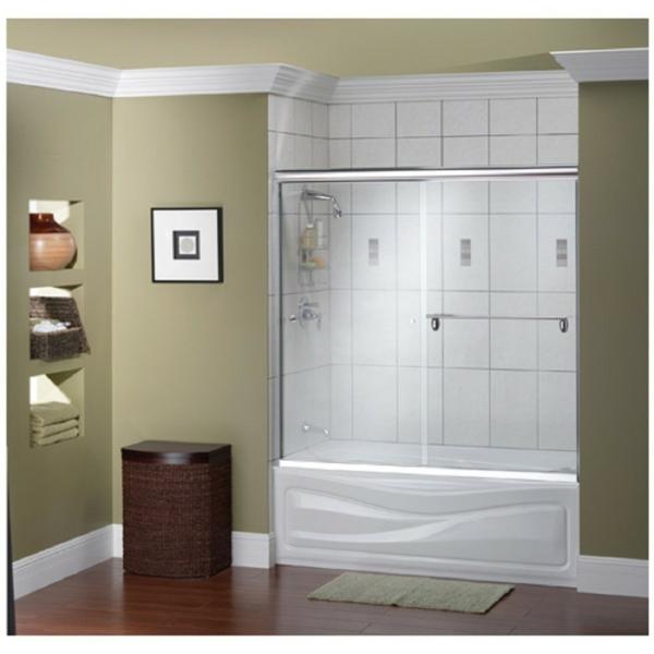 pare-baignoire-coulissant-carrelage-mural-blanc-et-rangement-mural-créatif