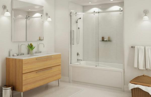 Le pare baignoire coulissant se soigne de votre confort - Pare baignoire miroir ...