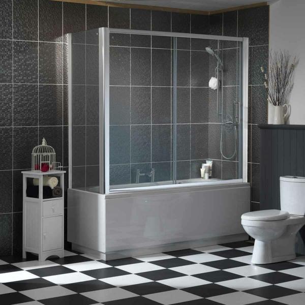 Un pare baignoire coulissant assure un beau style pour votre baignoire