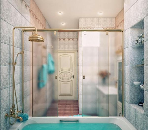 pare baignoire coulissant super beau, encadrement et douche en couleur