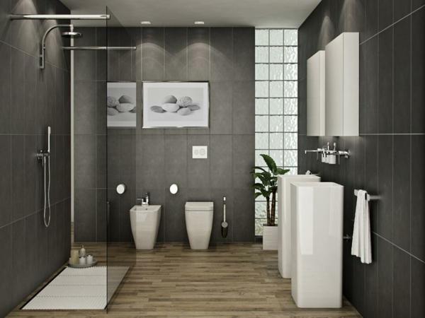 parquet-stratifié-dans-la-salle-de-bains-cabine-de-douche-vasques-colonnes