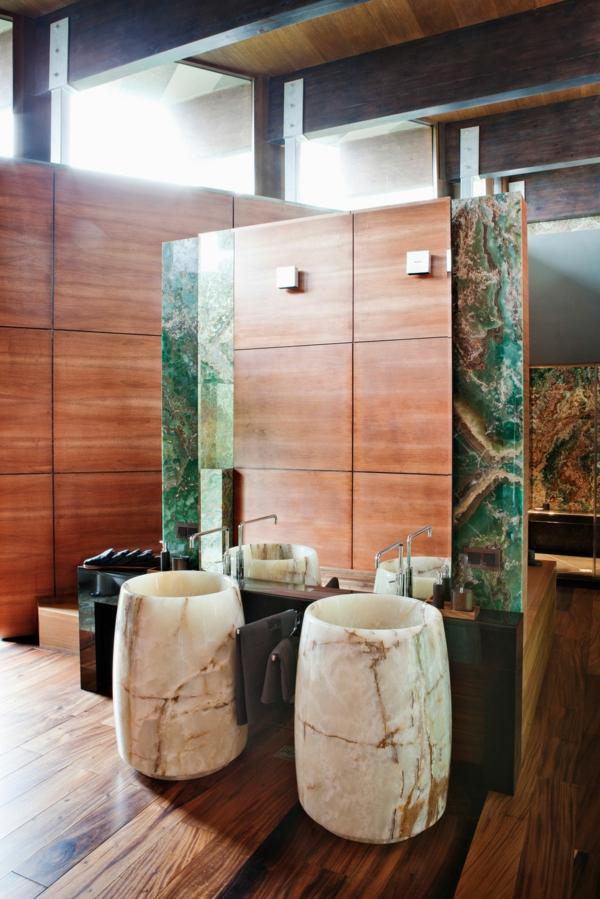 Le parquet stratifi dans la salle de bains est une - Peut on mettre du parquet dans une salle de bain ...