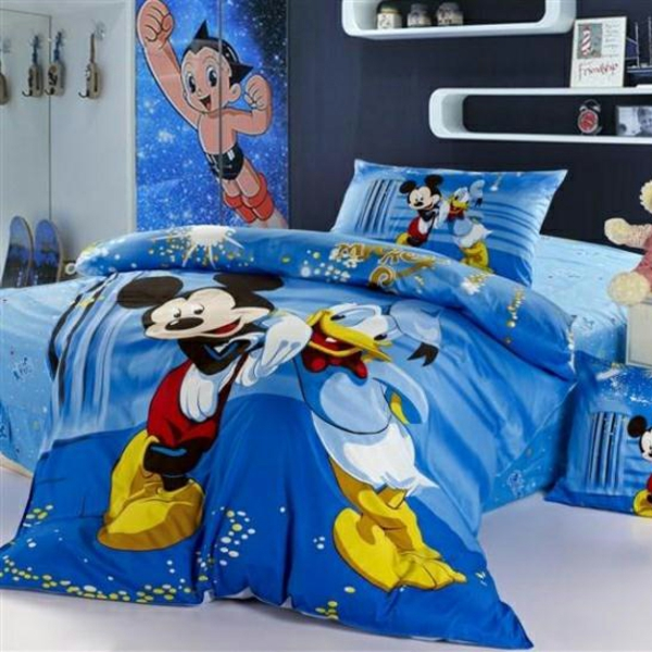 parure-de-lit-mickey-Micjey-et-Donald
