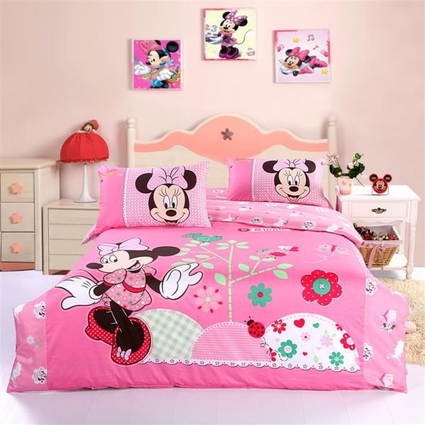 parure-de-lit-mickey-couette-rose-et-amusante